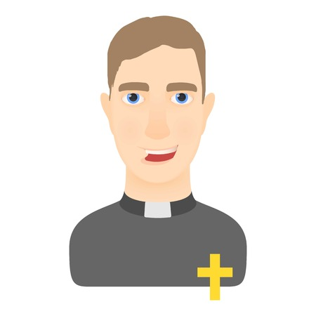 Priest icon. Cartoon illustration of priest vector icon for web