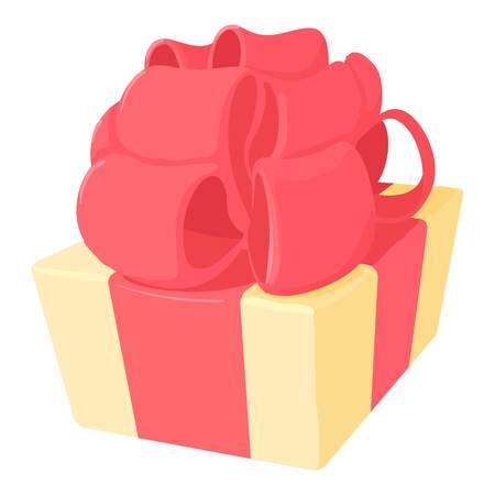 giftware: Gift icon. Cartoon illustration of gift vector icon for web