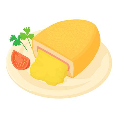 fillet: Kiev cutlet icon. Cartoon illustration of Kiev cutlet vector icon for web Illustration