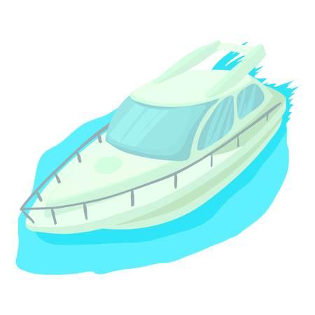 cruise ship icon: Cruise ship icon. Cartoon illustration of cruise ship vector icon for web