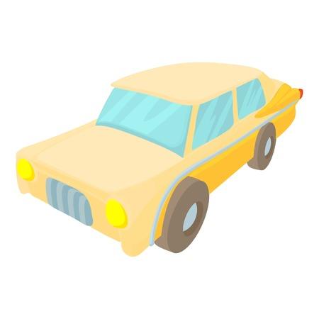 Car icon. Cartoon illustration of car vector icon for web