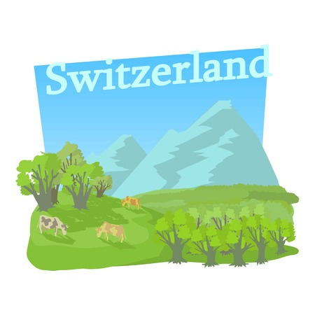 swiss alps: Little switzerland icon. Cartoon illustration of little switzerland vector icon for web
