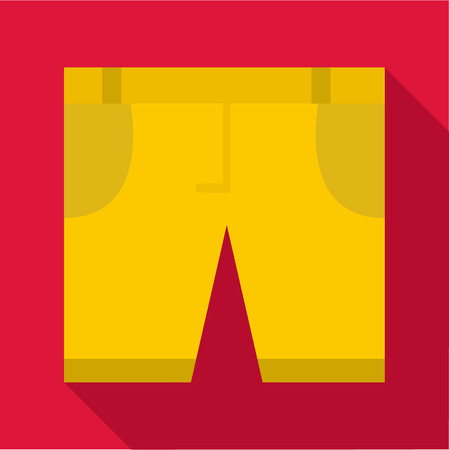 fashionably: Shorts icon. Flat illustration of shorts vector icon for web