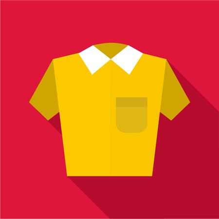 polo shirt: Polo shirt icon. Flat illustration of polo shirt vector icon for web Illustration