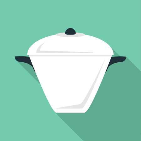 High pan icon. Flat illustration of high pan vector icon for web
