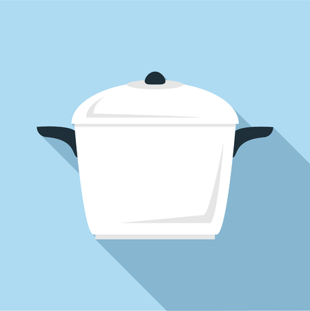 Square pan icon. Flat illustration of square pan vector icon for web