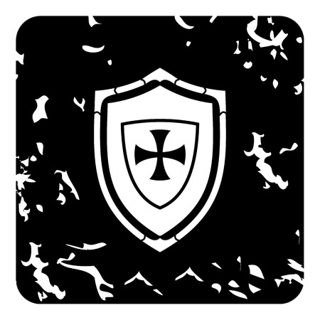 military shield: Military shield icon. Grunge illustration of military shield vector icon for web