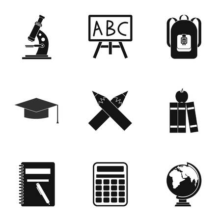 schoolhouse: Schoolhouse icons set. Simple illustration of 9 schoolhouse vector icons for web