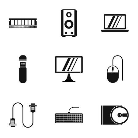 computer repair: Computer repair icons set. Simple illustration of 9 computer repair vector icons for web Illustration