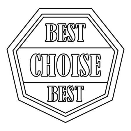 choise: Best choise label icon. Outline illustration of best choise label vector icon for web