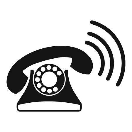 parley: Retro phone icon. Simple illustration of retro phone vector icon for web Illustration