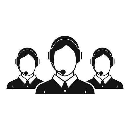operators: Customer support operators icon. Simple illustration of customer support operators vector icon for web Illustration