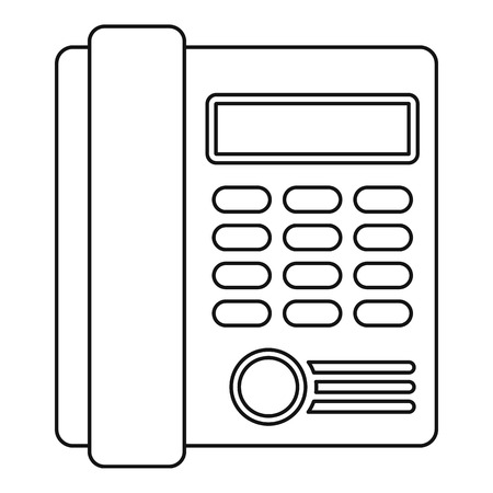telephone: Telephone icon. Outline illustration of telephone vector icon for web