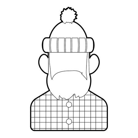 logging: Lumberjack icon. Outline illustration of lumberjack vector icon for web design Illustration