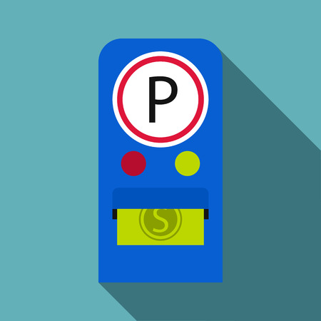 Parking fees icon. Flat illustration of parking fees icon for web Vectores