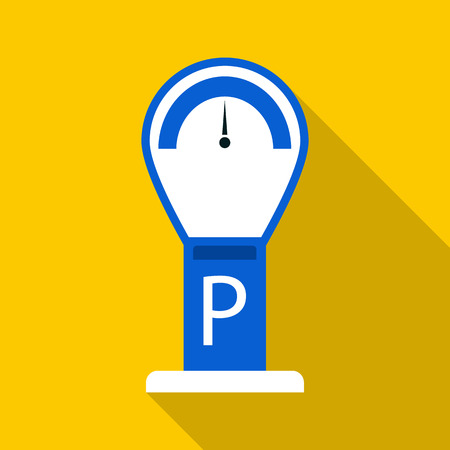 Parking meter icon. Flat illustration of parking meter vector icon for web design Illustration
