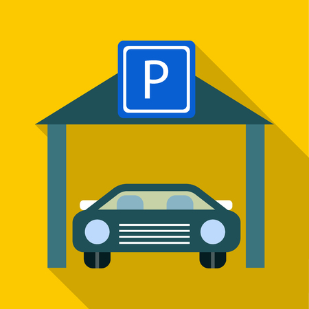 Car parking icon. Flat illustration of car parking vector icon for web Illustration