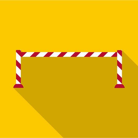 Barrier icon. Flat illustration of barrier vector icon for web design Illustration