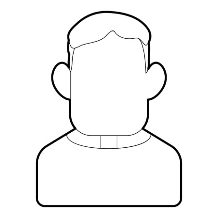 Priest icon. Outline illustration of priest vector icon for web design Illustration
