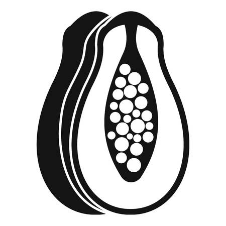 Papaya icon. Simple illustration of papaya vector icon for web
