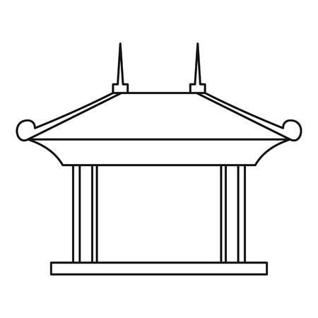 Pagoda pavilion pictogram. Schets illustratie van de pagode paviljoen vector pictogram voor web