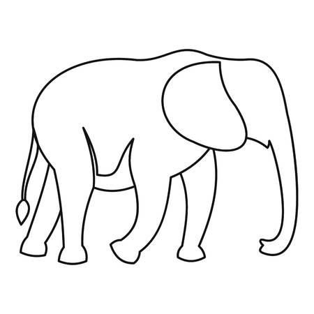 srilanka: Elephant icon. Outline illustration of elephant vector icon for web