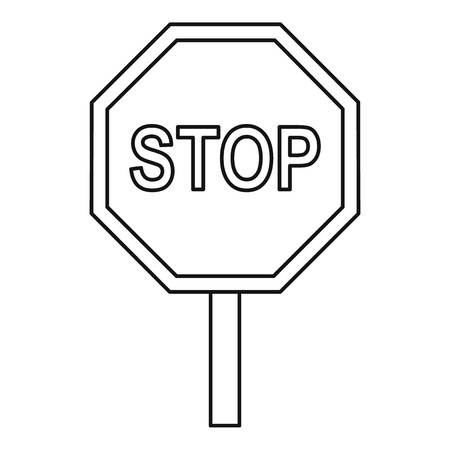 danger ahead: Stop traffic sign icon. Outline illustration of stop traffic sign vector icon for web