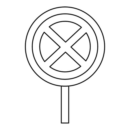 carriageway: Clearway sign icon. Outline illustration of clearway sign vector icon for web Illustration