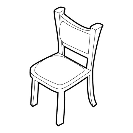 Chair icon. Isometric 3d illustration of chair vector icon for web