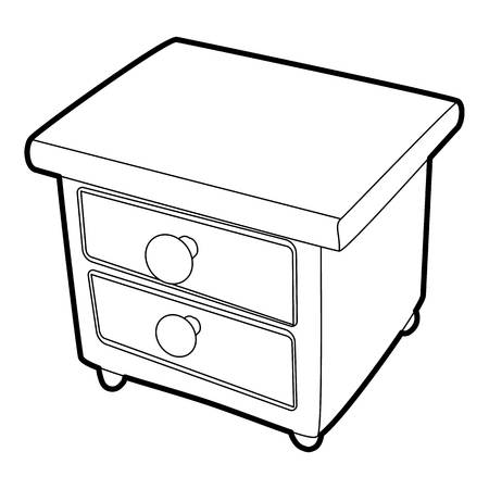 nightstand: Nightstand icon. Isometric 3d illustration of nightstand vector icon for web
