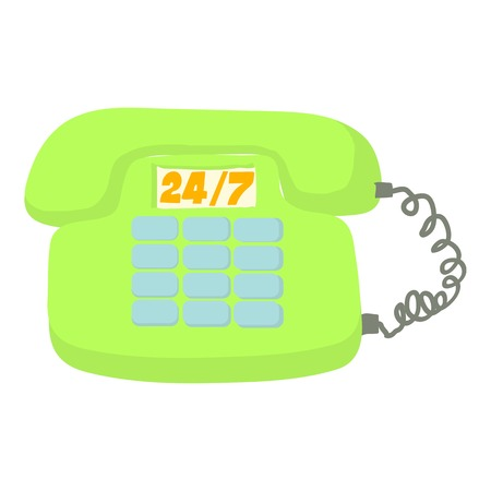 caller: Call service icon. Cartoon illustration of call service vector icon for web