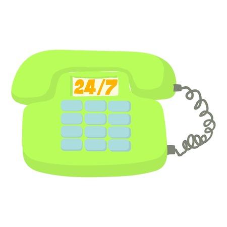 Call service icon. Cartoon illustration of call service vector icon for web