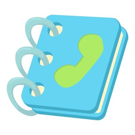blue book: Blue address book icon. Cartoon illustration of blue address book vector icon for web