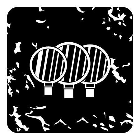 reflectors: Disc reflectors icon. Grunge illustration of reflectors vector icon for web design