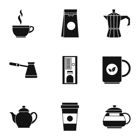 dome type: Types of drinks icons set. Simple illustration of 9 types of drinks vector icons for web Illustration