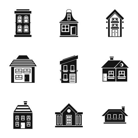 dwelling: Dwelling icons set. Simple illustration of 9 dwelling vector icons for web