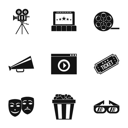 cinematography: Cinematography icons set. Simple illustration of 9 cinematography vector icons for web