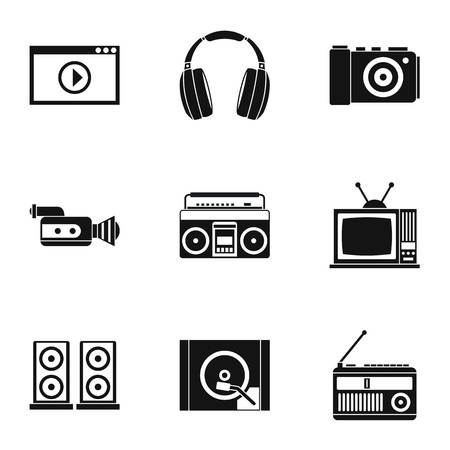 electronic devices: Electronic devices icons set. Simple illustration of 9 electronic devices vector icons for web