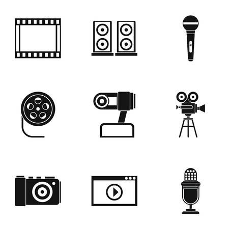 hdtv: Electronic equipment icons set. Simple illustration of 9 electronic equipment vector icons for web