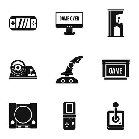 psp: Fantasy games icons set. Simple illustration of 9 fantasy games vector icons for web