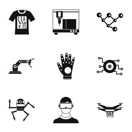 electronic devices: Latest electronic devices icons set. Simple illustration of 9 latest electronic devices vector icons for web Illustration