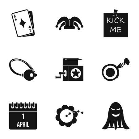 ballyhoo: Funny joke icons set. Simple illustration of 9 funny joke vector icons for web Illustration