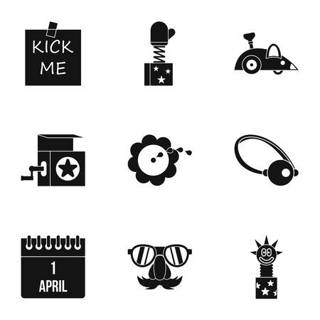 ballyhoo: Joke icons set. Simple illustration of 9 joke vector icons for web Illustration