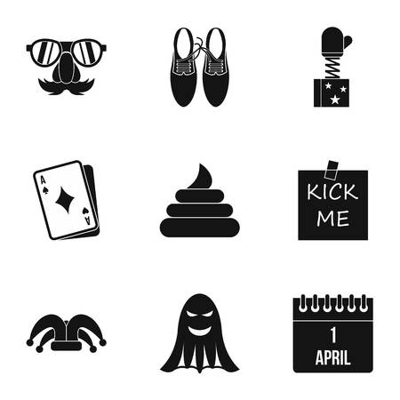 Jocularity icons set. Simple illustration of 9 jocularity vector icons for web