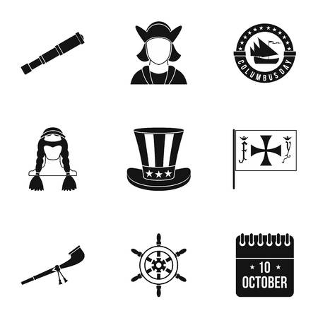 pioneer: Pioneer icons set. Simple illustration of 9 pioneer vector icons for web Illustration