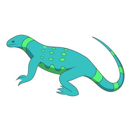 Blue lizard icon. Cartoon illustration of blue lizard vector icon for web Illustration
