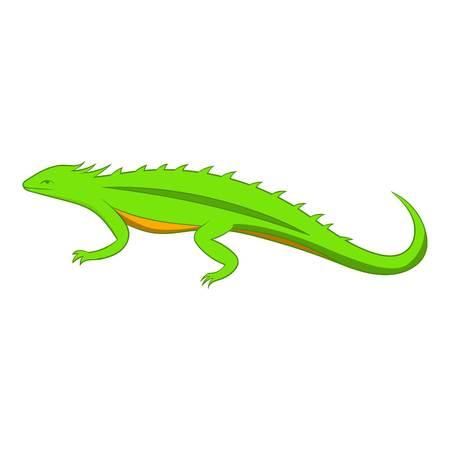 Green lizard icon. Cartoon illustration of green lizard vector icon for web