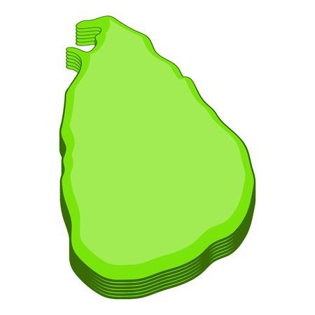 srilanka: Sri lanka map icon. Cartoon illustration of sri lanka map vector icon for web