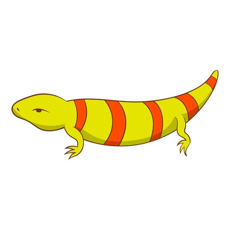 Stripped lizard icon. Cartoon illustration of stripped lizard vector icon for web
