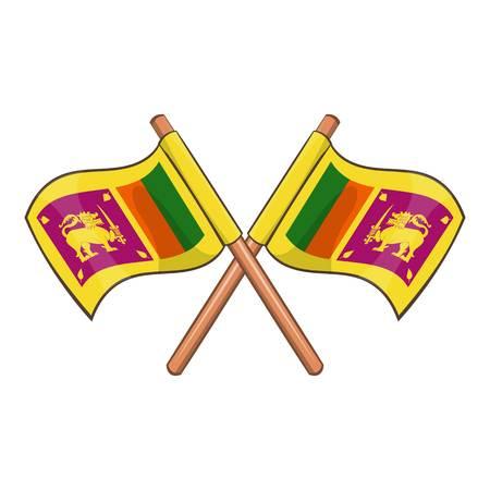 srilanka: Sri lanka flag icon. Cartoon illustration of sri lanka flag vector icon for web